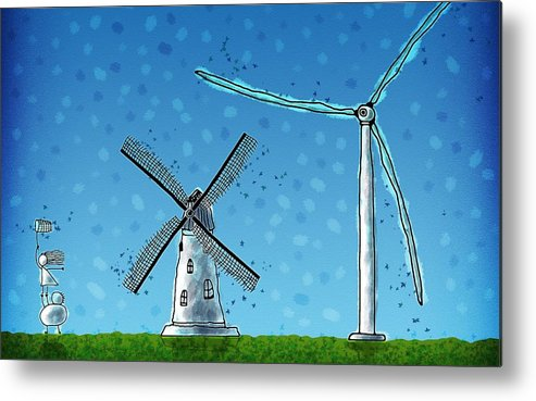 Abstract Metal Print featuring the digital art Wind Blows by Gianfranco Weiss