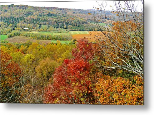 Autumn Metal Print featuring the photograph Autumn Over Look by Jennifer Kelly