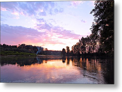 Landscape Metal Print featuring the photograph Camp Fire Sunset by Paul Fell