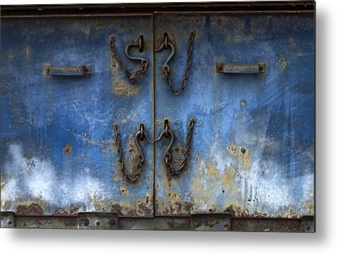 Railroad Metal Print featuring the photograph Chains And Hooks by Murray Bloom