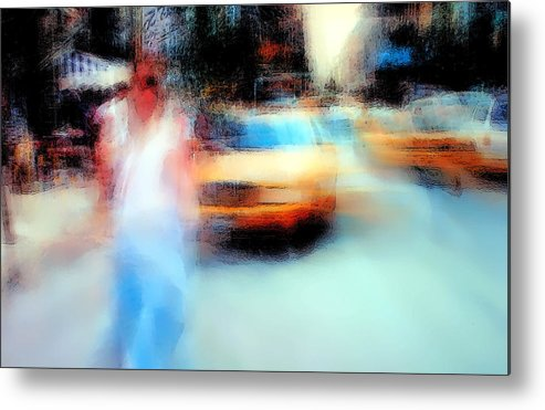 Abstract Metal Print featuring the photograph Down Size by Defaniz