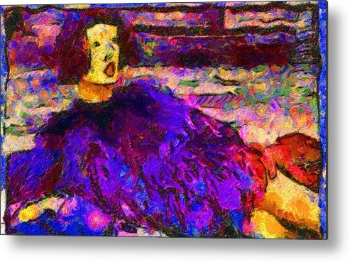 Impressionist Fashion Painting Metal Print featuring the painting Fashion 328 by Jacques Silberstein