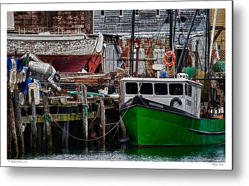 Architecture Metal Print featuring the photograph Harbor Dock by Richard Bean