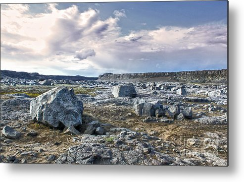 Iceland Metal Print featuring the photograph Iceland Barren Landscape - 02 by Gregory Dyer