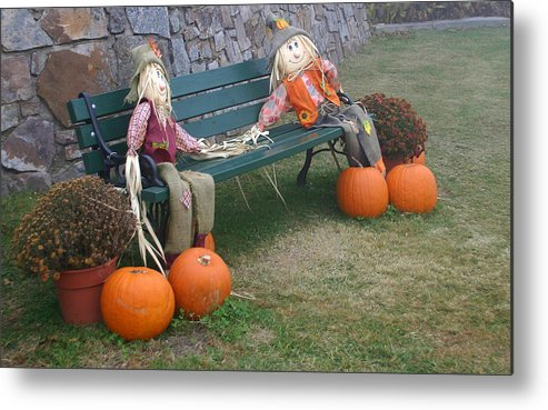Autumn Metal Print featuring the photograph Just Tell Me That You Care by Nina Fosdick