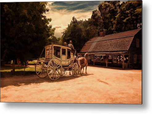 Vintage Metal Print featuring the photograph Nice And Easy by Lourry Legarde