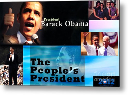President Metal Print featuring the photograph The People's President by Terry Wallace