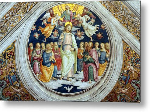 Jesus Metal Print featuring the photograph Wall Painting by Munir Alawi