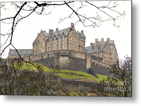 Fog Metal Print featuring the photograph Edinburgh Castle by Sophie McAulay