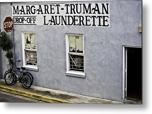 Laundry Metal Print featuring the photograph Launderette by Sarita Rampersad