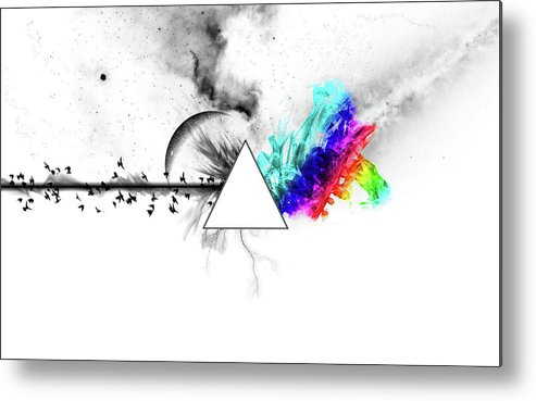 Pink Floyd Metal Print featuring the digital art Pink Floyd by Dorothy Binder