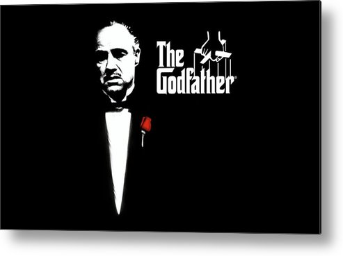 The Godfather Metal Print featuring the digital art The Godfather by Dorothy Binder