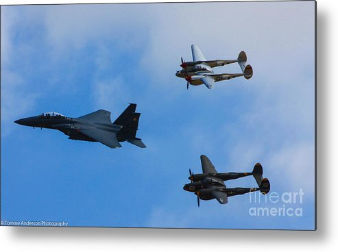 Usaf Metal Print featuring the photograph Usaf Heritage Flight by Tommy Anderson