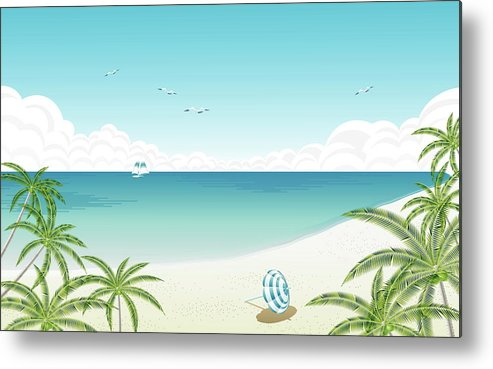 Vector Metal Print featuring the digital art Vector by Dorothy Binder