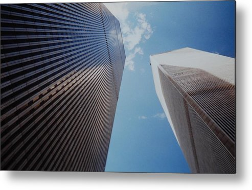 Wtc Metal Print featuring the photograph W T C 1 And 2 by Rob Hans