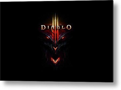 Diablo Iii Metal Print featuring the digital art Diablo IIi by Dorothy Binder