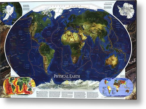 World Map Metal Print featuring the digital art World Map by Dorothy Binder