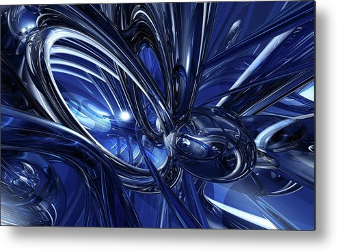 Blue Metal Print featuring the digital art Blue by Mery Moon