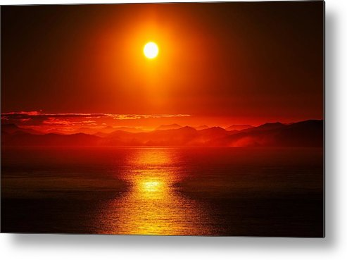 Sunset Metal Print featuring the digital art Sunset by Dorothy Binder
