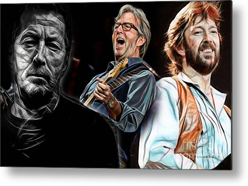Eric Clapton Metal Print featuring the mixed media Eric Clapton Collection by Marvin Blaine