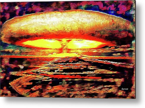 Remarkable Metal Print featuring the painting 57 Megatons by Don Barrett