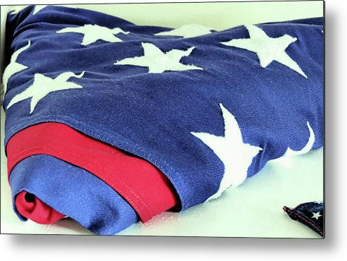 American Flag Metal Print featuring the photograph American Flag by Janice Drew