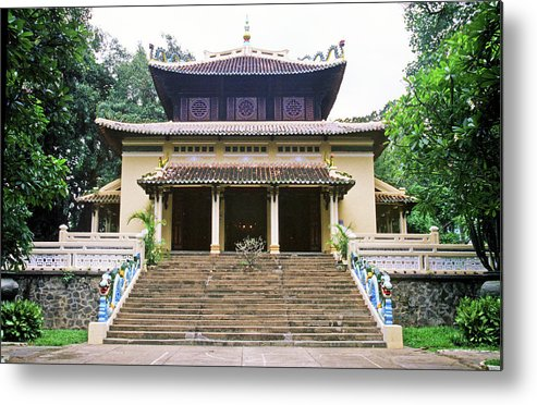 Vietnam Metal Print featuring the photograph Bao Tang Temple Ho Chi Minh City by Rich Walter