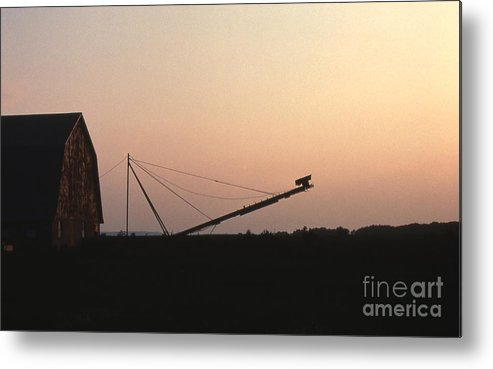 Barn Metal Print featuring the photograph Barn At Sunset by Timothy Johnson