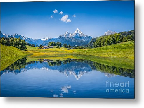 Alpine Metal Print featuring the photograph Beauty Of The Alps by JR Photography