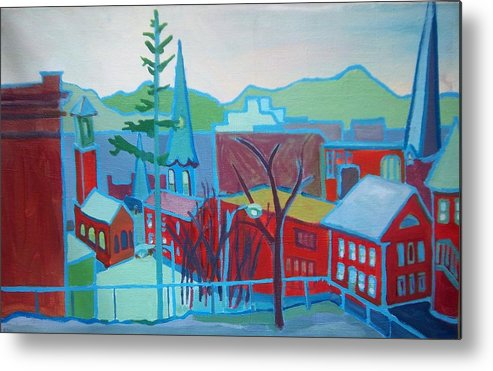 Burlington Metal Print featuring the painting Blue Burlington by Debra Bretton Robinson