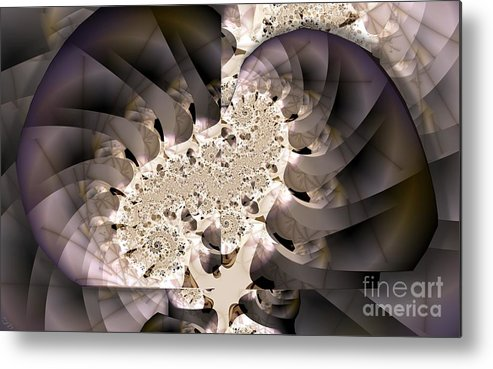 Brain Stem Metal Print featuring the digital art Brain Stem by Ron Bissett