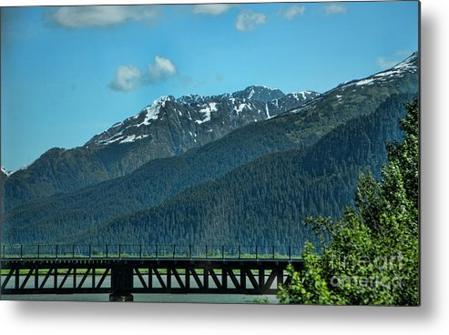 Alaska Metal Print featuring the photograph Bridge Alaska Rail by Chuck Kuhn