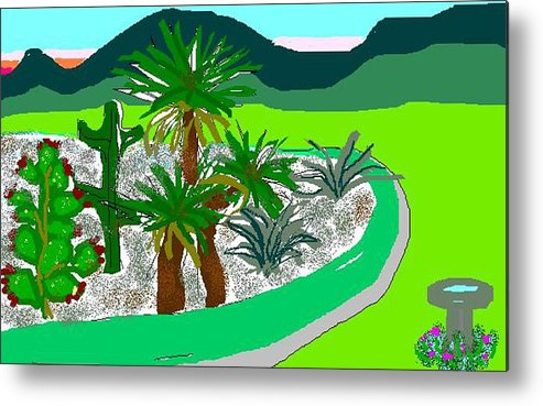 Cactus Metal Print featuring the digital art Cactus Garden by Carole Boyd