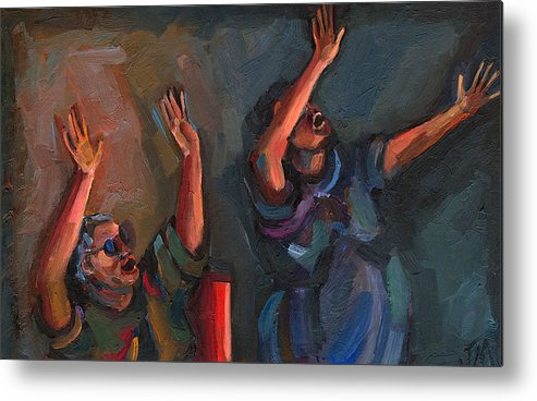 Spirit Filled Metal Print featuring the painting Celebration by Jackie Merritt