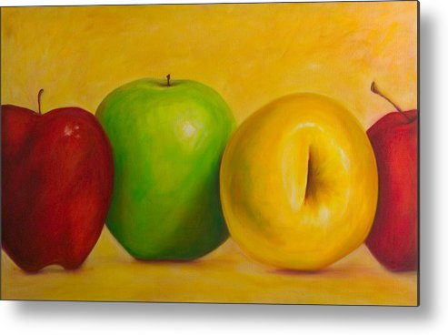 Still Life Metal Print featuring the painting Chorus Line by Shannon Grissom