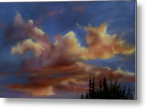 Sunset Clouds Metal Print featuring the pastel Cloudscape Lv by Lynne Parker