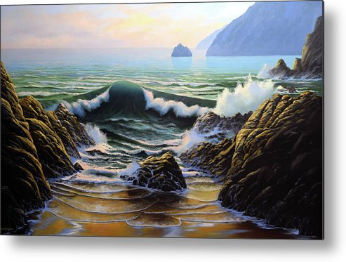 Dancing Tide Metal Print featuring the painting Dancing Tide by Frank Wilson