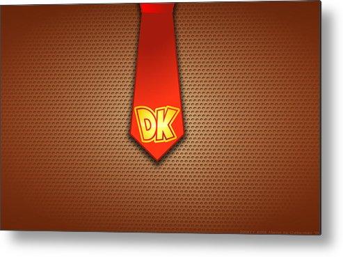 Donkey Kong Metal Print featuring the digital art Donkey Kong by Dorothy Binder