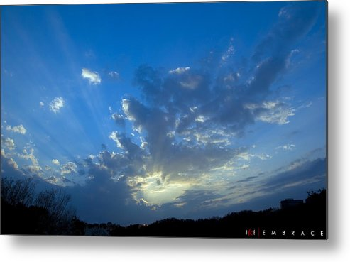 Sky Metal Print featuring the photograph Embrace by Jonathan Ellis Keys