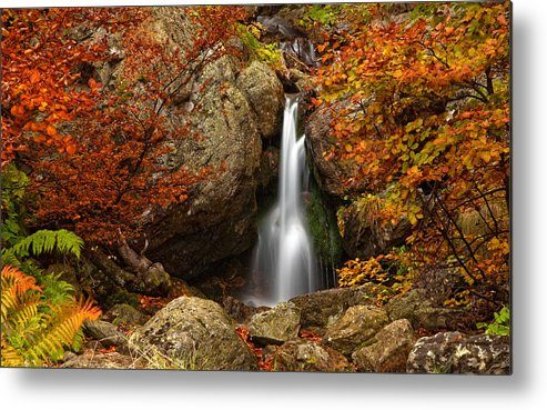 Mountain Metal Print featuring the photograph Fairy Fall by Evgeni Dinev
