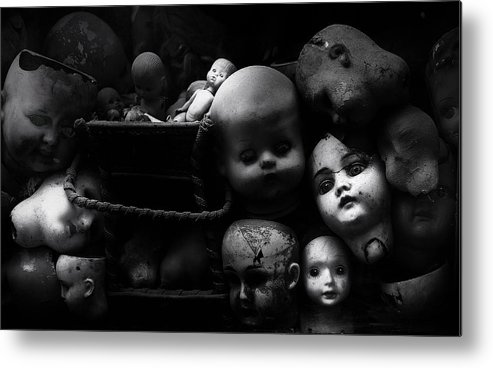 Dolls Metal Print featuring the photograph Fixed Gaze by Fulvio Pellegrini