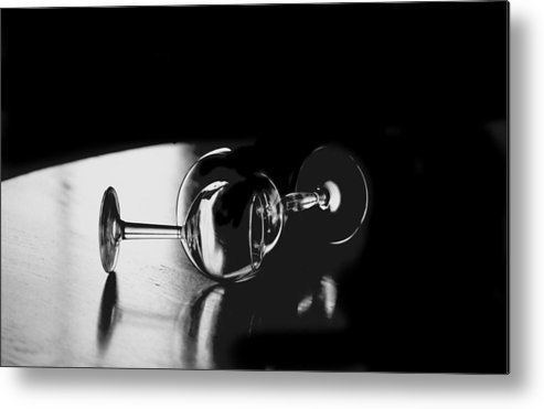 Photography Metal Print featuring the photograph Glass Within Glass by Tom Fant