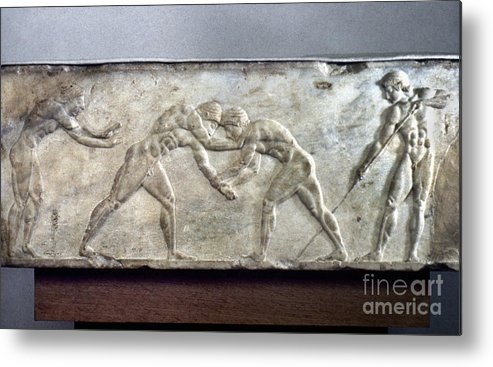 Ancient Metal Print featuring the photograph Greece: Wrestlers by Granger