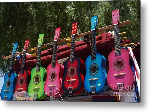 Guitars Metal Print featuring the photograph Guitars In Old Town San Diego by Anna Lisa Yoder