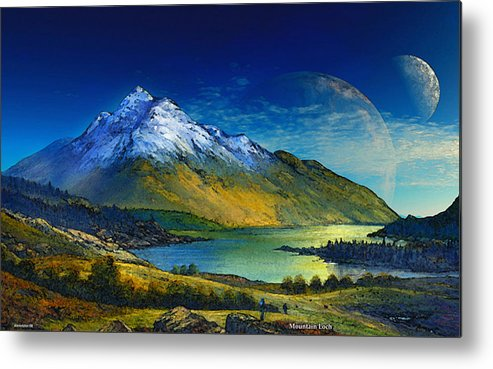 Scifi David Jackson Alienvisitor Space Highland Home Metal Print featuring the digital art Highland Home by David Jackson