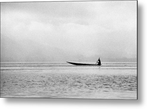 Inle Lake Metal Print featuring the photograph Inle Boat by Marcus Best