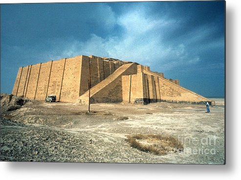 2100 B.c. Metal Print featuring the photograph Iraq: Ziggurat In Ur by Granger