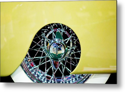 Classic Car Metal Print featuring the photograph Jag by Rebecca Cozart