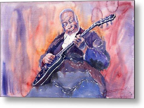 Jazz Metal Print featuring the painting Jazz B.b. King 03 by Yuriy Shevchuk