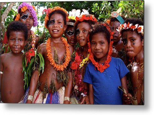 Children Metal Print featuring the photograph Kitava Papua New Guinea 15 by Per Lidvall